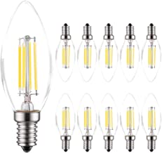 MODI E14 Candle Bulb, 40 Watt Equivalent LED Filament Light Bulbs, Non-Dimmable Soft Warm White 2700K Classic Clear Glass,...