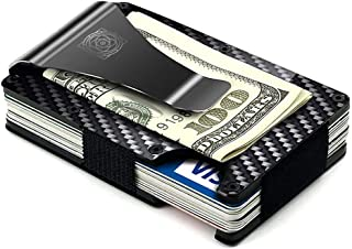 Slim Wallet - Credit Card Holder with Money Clip and Aluminum RFID Protection