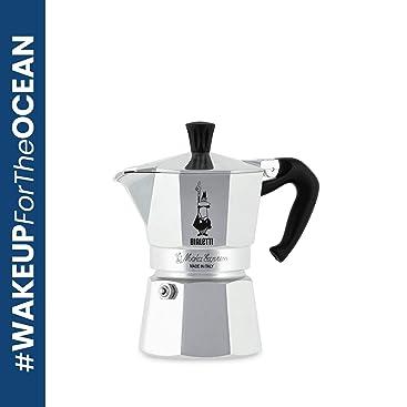 Bialetti Moka Express Cafetera Italiana Espresso, 3 Tazas, Aluminio, Plateado