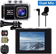 【Upgrade】 MOUNTDOG Sports Action Camera 4K Underwater Waterproof 30M Camera with Wireless Wrist Remote Control/External Microphone/ 2
