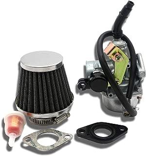 Sibaken PZ19 Carburetor with Air Filter Cable Choke for 50cc 70cc 90cc 110cc 125cc Chinese ATV Quad Go-kart