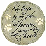 Spoontiques - Garden Décor - No Longer By My Side Memorial Stepping Stone - Decorative Stone for Garden