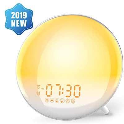 Alarm Clock Wake Up Light,XIRON Light Alarm Clo...
