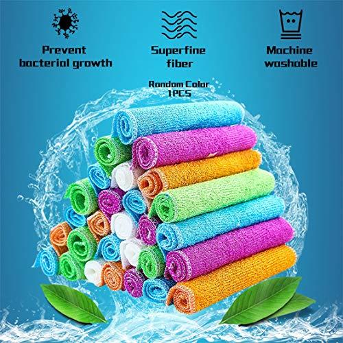 ACEHE Paño de cocina de bambú y paños de limpieza Conjuntos de toallas súper absorbentes suaves, duraderas y ecológicas trapos de limpieza Rustle666