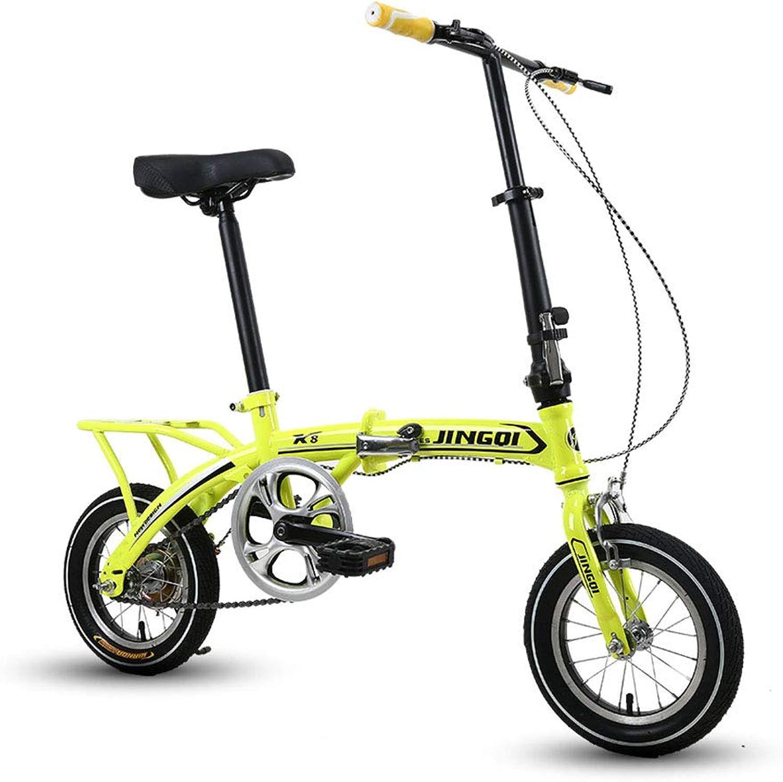 orden en línea YQ Aleación De Aluminio De 12 Pulgadas Bicicleta Plegable Plegable Plegable Vehículo Recreativo Portátil Ultraligero Hombres Y Mujeres Bicicleta V Freno  100% garantía genuina de contador