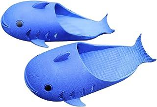 Yuui Pantoufles d'été pour garçons et filles - En forme de dauphin - Pour la salle de bain à la maison.