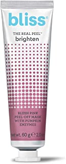 Bliss The Real Peel Brighten, Blush Pink Peel-Off Face Mask, Made Without Parabens, 2.0 ounces