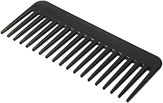 Anself Large Wide Tooth Hair Comb Detangling Hairbrush, Heat-resistant Anti-static Scalp Massage (Black)