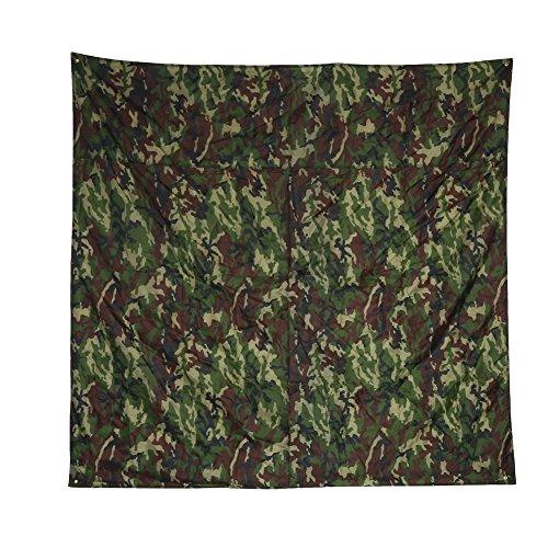Alomejor Wasserdichte Zeltplane, ultraleicht, multifunktional, Camouflage, Fußabdruck, Bodenplane, Matte für Picknickdecke (2 x 1,5 m)
