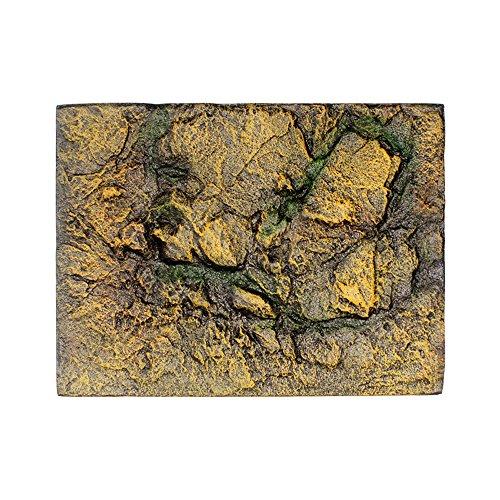 Makalon Aquariumachterwand van reptielen-steen, achterwand van schuimstof, 3D-decoratie voor vissen, G, Veelkleurig.
