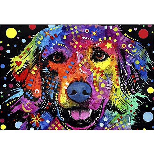 DIY de madera Puzzles grandes adultos 1000 piezas Animal colorido del arte del cachorro de Labrador Imagen de la decoración de la habitación Regalos de Navidad
