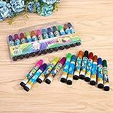 SHUOSHUO 12 crayones creativos para niños Set Color Dibujos Animados Acuarela Pluma Pincel Suministros Graffiti crayones papelería Creativa