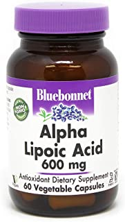 BlueBonnet Alpha Lipoic Acid Vegetarian Capsules, 600 mg, 60 Count