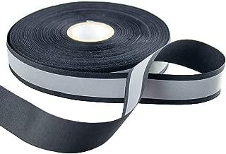 Silver Reflective Webbing Ribbon Tape Trim Strip Sew On 30mmx20mm x 50m