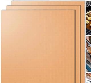 LLAAIT 3pcs Or Tapis de Barbecue en téflon réutilisable Tapis de Gril de Cuisson Tapis de Cuisson résistant à la Chaleur F...