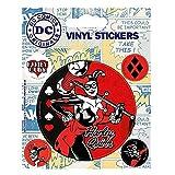 Ensemble de 5 décalcomanies pour gadgets d'autocollants en vinyle Harley Quinn de DC...