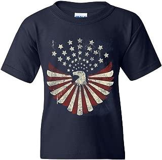 USA Flag Bald Eagle Youth's T-Shirt Patriotic 4th of July Shirts