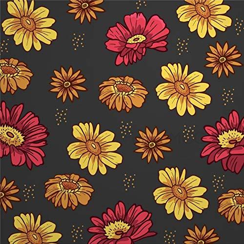 daoyiqi Juego de adhesivos decorativos para azulejos, diseño de girasol, 30,5 x 30,5 cm, vinilo resistente al agua, 12 unidades
