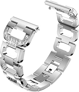 Watch Bracelet for Fitbit Strap Stainless Steel Metal Link Bracelet Replacement Wristband