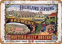 ハイランド春醸造所ブリキサインヴィンテージノベルティ面白い鉄の絵の金属板