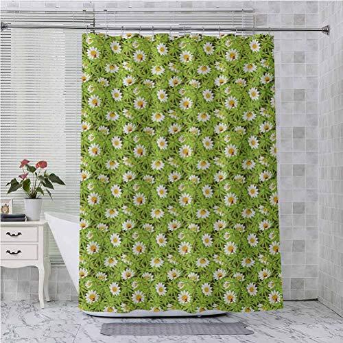 Aishare Store - Juego de cortinas de ducha con diseño de manzanillas y mariquitas, color rojo