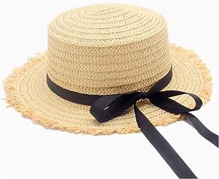 HaiNing Zheng Fashion Women Straw Baseball Cap Bow Ribbon Women's Casual Beach Cap Sombrero Straw Hat