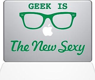 "The Decal Guru Geek is the New Sexy MacBook Decal Vinyl Sticker  - 12"" Macbook - Green (1066-MAC-12M-LG)"