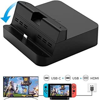 WeChip Gulikit Switch Dock Set, Portable Dock Replacement Case Compatible for Nintendo Switch, Support Smart Phones/Samsun...