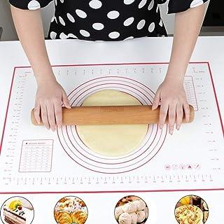 Tapis de cuisson en silicone 60 x 40 cm Tapis à pâtisserie en silicone antiadhésif, tapis à pizza / pain / biscuit / gâteau