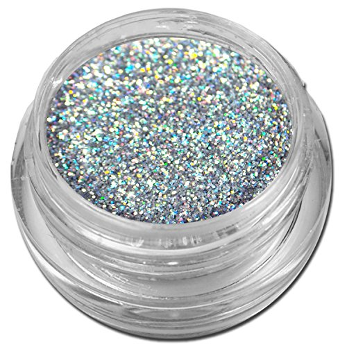Hologramm Glitzer Glitter Puder Silber Holo Nailart