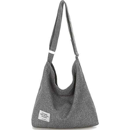 Umhängetasche Damen, ZhengYue Handtaschen Damen Hobo Bag Canvas Damentaschen Groß Kapazität Schultertasche Grau