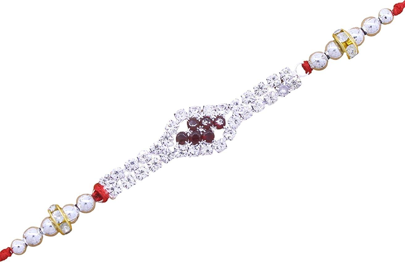 Guarantee Ornament House Designer Rakhi Combo Sets Silk Thread Bracelet for rakshabandhan of Bhaiya bhabhi Brother CZ Stone Work Pearl Rakhi Best Gift 10