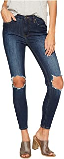 Free People Women's High-Rise Busted Skinny in Dark Blue Dark Blue 27 27