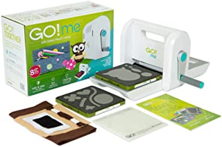 "AccuQuiltGO! Me Easy Fabric Project Maker with GO! Me Fabric Cutter, (2) GO! Dies, GO! Cutting Mat-6"" x 6"", Pattern & Idea Book, Fabric and Thread and More."