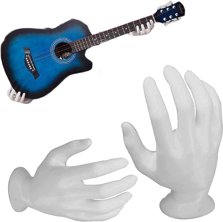 TFCK Soporte De Montaje para Guitarra De Mano 3D,Pared Soporte para Guitarra En Forma,Soporte para SuspensióN De Auriculares, Soporte Resistente para Guitarra AcúStica Blanco
