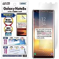 ASDEC Galaxy Note8 docomo SC-01K au SCV37 用 フィルム ノングレアフィルム3 ・防指紋・気泡消失・映り込み防止・アンチグレア・日本製 NGB-SC01K (マットフィルム)