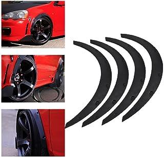 KKmoon 2 Pezzi 1.5 m Labbra per Montatura di Arco per Sopracciglia Ruota Universale Fibra di Carbonio Protezione per Modanatura per Estensione Flare parafango per Striscia