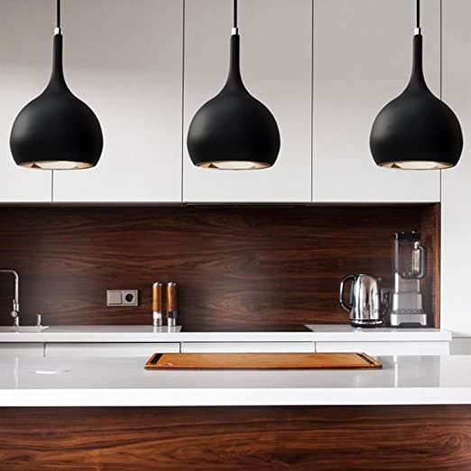 Parma Black Cob Led Premium Pendant Light For Kitchen Island Modern Design Amazon Co Uk Lighting