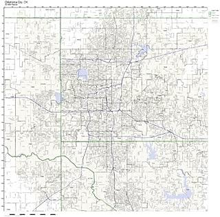 Oklahoma City, OK ZIP Code Map Laminated