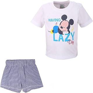 fedff6265 DISNEY Niños, Infantil, Bebé Mickey Mouse Conjunto, T-Shirt y Pantalones  cortos