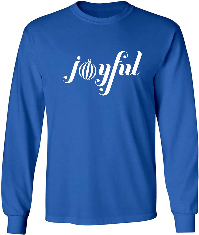 Joyful Adult Long Sleeve T-Shirt in Royal - XXXX-Large