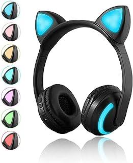Auriculares inalámbricos Bluetooth para gato, 7 colores, co