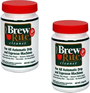 Brew Rite Coffee Maker Cleaner for Home Coffee Machines and Espresso Equipment, 2 Pack (