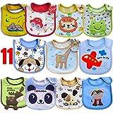SLOSH 11 Bébé Bavoirs Imperméable Coton Bavoirs Bandana Bavette pour Bébé Garçon 0 à 36 mois (Unisexe 1)