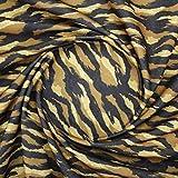Tejido DE Antelina Estampada Animal Print EN Tonos Marrones Serie REBECO por Metros (MARRÓN, 5 Metros)