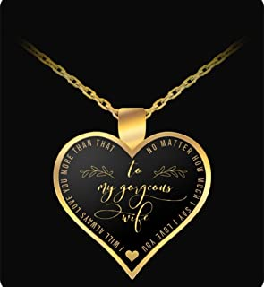 Husband Wife Necklace - Heart Pendant - Gold - Cute & Romantic