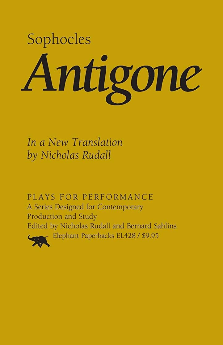 絶縁するわずかにのスコアAntigone: In a New Translation (Plays for Performance Series)