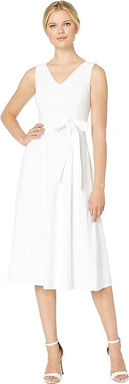 A-Line Dress with Self Tie Belt