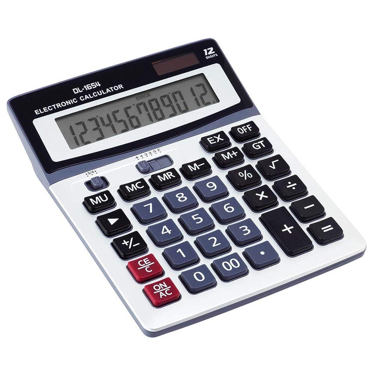 アーチ我慢するグラフビジネス電卓 電卓大画面ビッグボタンソーラー電卓財務オフィス12ビット電卓 ミニジャストタイプ電卓
