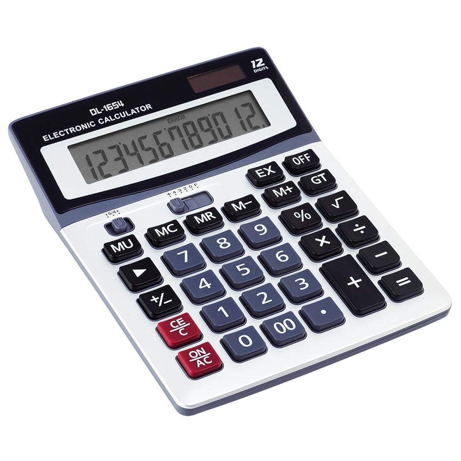 保守的石油最初電卓大画面ビッグボタンソーラー電卓財務オフィス12ビット電卓 標準機能エレクトロニクス電卓